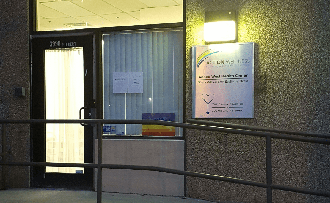 Image of the outside of the Annex West health center office